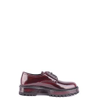 Car Shoe Burgundy Leather Lace-up Shoes