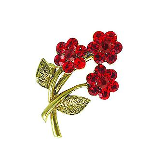 Eternal Collection Roses Are Red Austrian Crystal Sweetheart Brooch
