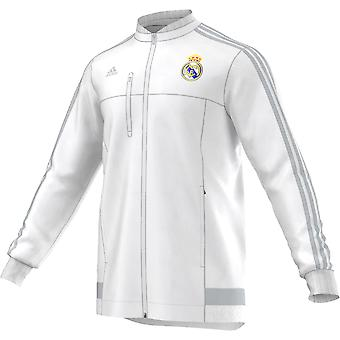 2015-2016 Real Madrid Adidas Anthem Jacke (weiß)