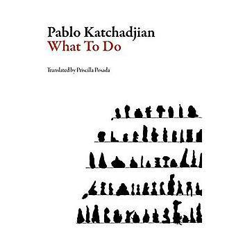 What to Do by Pablo Katchadjian - Priscilla Posada - 9781564787057 Bo