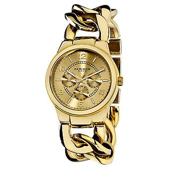Akribos XXIV Women's Twist-Chain Japanese-Quartz Multifunction Watch AK531YG