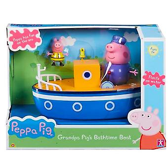 Peppa Pig Grandpa Pigs Bath Time Boat with removable articulated figures