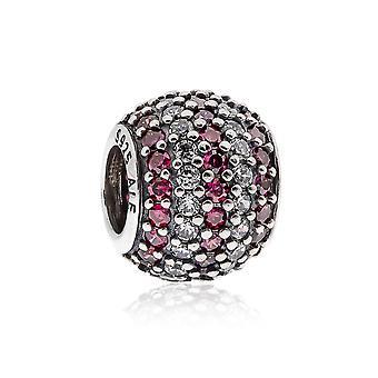 Pandora Stripe Pave argento, chiaro & rosso CZ CHARM 791172CZR