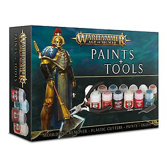 Jeux atelier-Warhammer-Age of Sigmar peintures + outils
