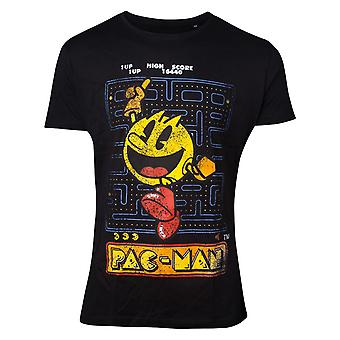 Pacman Black Retro Start Scene T-Shirt