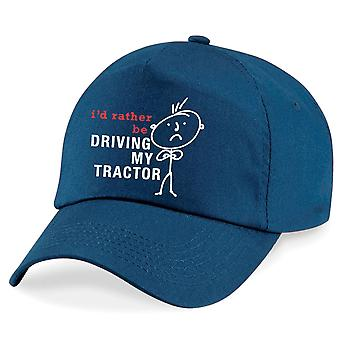Men's I'd Rather Be Driving My Tractor Cap