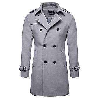 Allthemen Man Lana Da uomo Mid-Long Belted Cappotto solido
