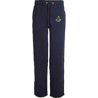 8e Kings Royal Irish Hussars - Licensed British Army Embroidered Open Hem Sweatpants / Jogging Bottoms