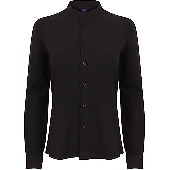 Henbury - Women's Ladies Mandarin Shirt With Roll-Tab Sleeve