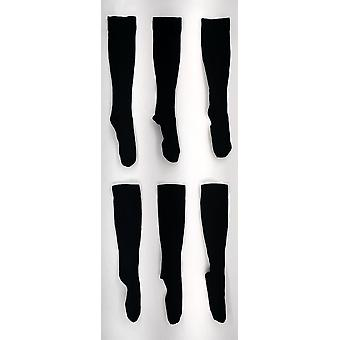 Legacy Graduated Compression Trouser Style 3 Pack Black Socks A258111