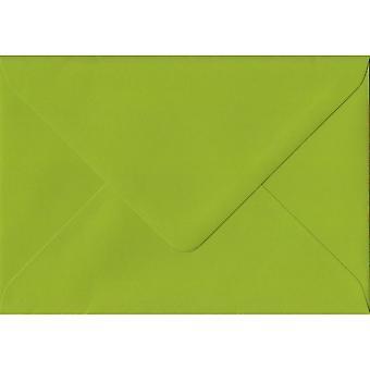 Fresh Green Gummed Greeting Card Coloured Green Envelopes. 100gsm FSC Sustainable Paper. 125mm x 175mm. Banker Style Envelope.