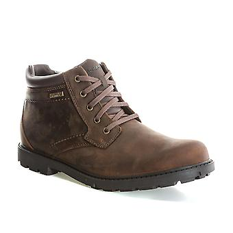 Mens Rockport Mens Strorm Surge Plain Toe Boots in Brown - UK 8