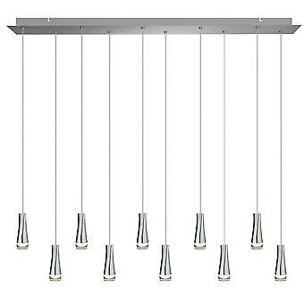 Industrial Vintage Chandelier Ceiling Light Pendant Ten Pendant  Rectangular Canopy