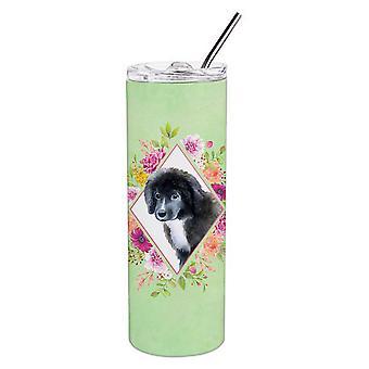 Terranova cucciolo verde fiori doppio murato in acciaio inossidabile 20 oz Skinny Tumb
