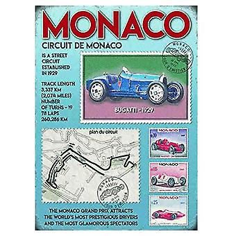 Monaco Grand Prix Small Metal Sign 200mm x 150mm (og)