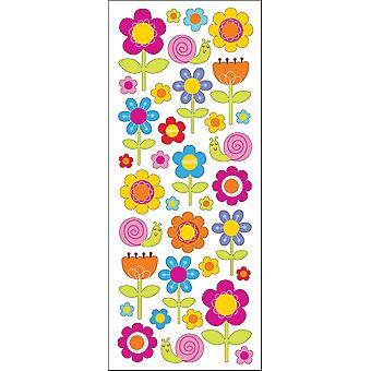 Puffy Classic Stickers Happy Flowers E5230068