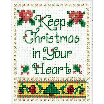 Christmas In Your Heart Ornament Counted Cross Stitch Kit 2
