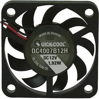 Axial fan 12 Vdc 10.82 m³/h (L x W x H) 40 x 40 x 7 mm QuickCool QC4007B12H