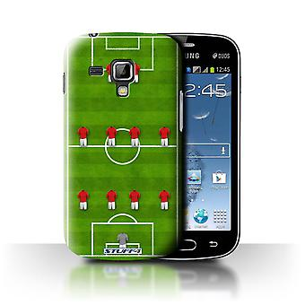 STUFF4 Case/Cover for Samsung Galaxy Trend Plus/S7580/4-4-2/Red/Football Formation
