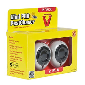 Victor Pest Control M752P-UK Ultraschall Mini Pro Pestchaser Twin Pack
