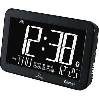 Quartz Alarm clock Renkforce A600 Black Alarm times 5