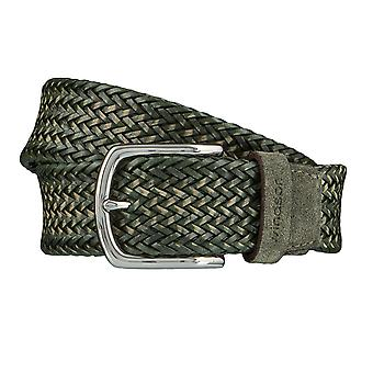 Windsor. Belts men's belts leather belt woven belt olive/green 4183