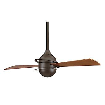 Fanimation Ceiling Fan THE INVOLUTION Öl eingerieben Bronze mit Wand-Steuerelement