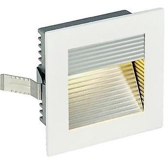 LED flush mount light 1 W Warm white SLV Frame Curve 113292 White