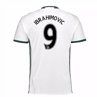 2016-17 man Utd derde Shirt (Ibrahimovic 9) - Kids