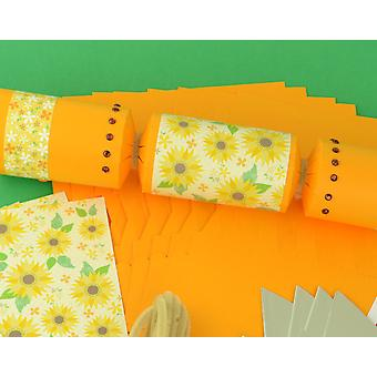 8 Golden Muted Tones Sunflower Make & Fill Your Own Crackers Kit