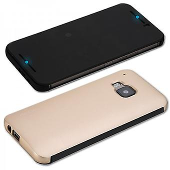Original ROCK Smart Cover Gold for HTC One 3 M9 2015