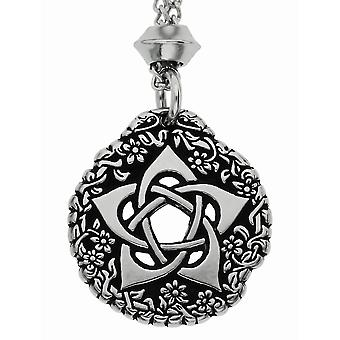 Handmade Tudor Rose Pentacle of the Goddess Pewter Pendant ~ Symbol of Protection ~ 22 inch Chain