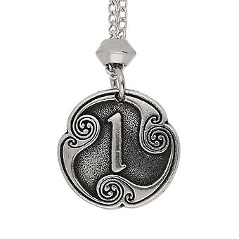 Handmade Norse Viking Isaz Rune of Duration 11th Runic Letter Pewter Pendant