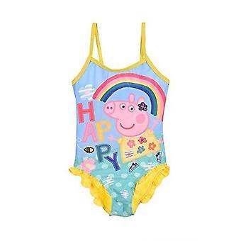 السباحة الفتيات Peppa الخنزير ملابس السباحة/One – قطعة حلي