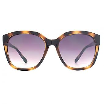 M:UK Highbury Glamorous Rectangle Sunglasses In Striped Brown Tortoiseshell