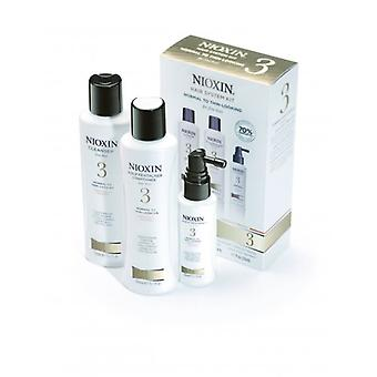 Nioxin Hair System Kit 3 For Chemically Treated, Normal To Thin Looking Hair