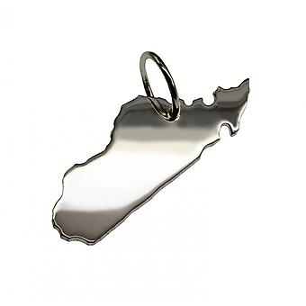 Trailer map Madagascar pendant in solid 925 Silver