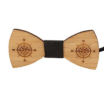 Snobbop fly Woody compass bamboo wood bow tie hook closure