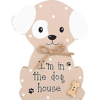 Estoy en la placa de pie de casa de perro Faithfull Pooch