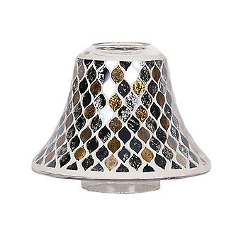Aroma Black and Gold Teardrop Candle Jar Lamp