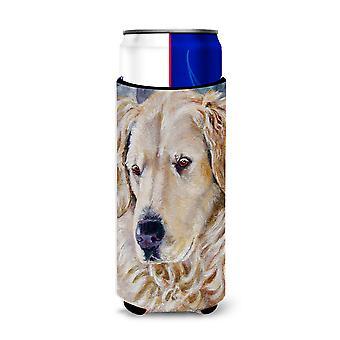 Golden Retriver Contemplation Michelob Ultra beverage insulators for slim cans