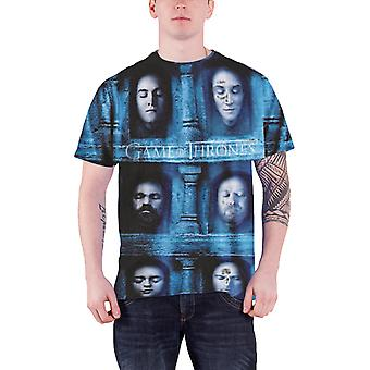 Game Of Thrones T Shirt Death Masks new Official Mens slim fit sub dye