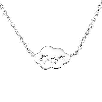 Cloud - 925 Sterling Silver Plain Necklaces - W32254x