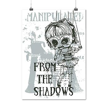 Matte or Glossy Poster with Manipulate Doll Horror | Wellcoda | *d1242