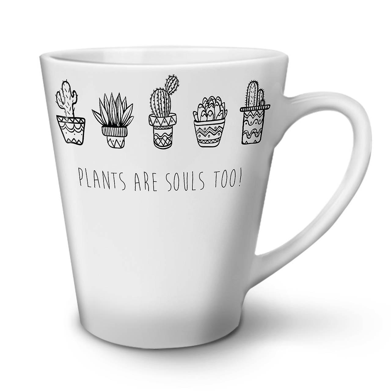 Latte Blanche Sont En Des Tasse Les Plantes Céramique Âmes Café OzWellcoda 12 Nouvelle P0wX8Okn