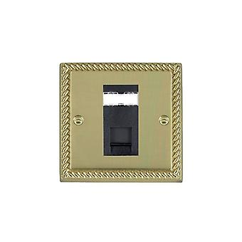 Hamilton Litestat Cheriton Georgian Polished Brass 1g RJ45 CAT5E Unshielded BL