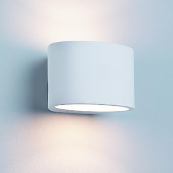 G9 Lámpara de pared de yeso blanco Oval - reflector 8721