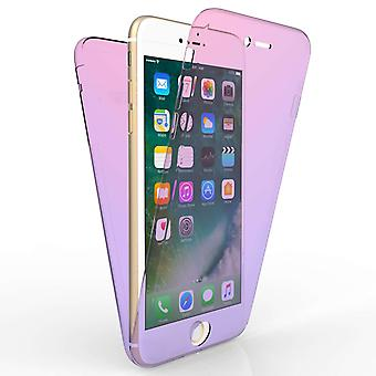 IPhone 7 Plus Full Body 360 TPU Gel Case - roze / paars