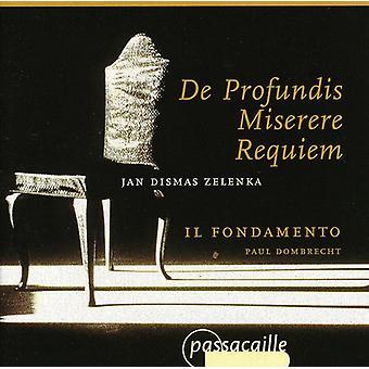 J.D. Zelenka - Zelenka: De Profundis; Miserere; Requiem [CD] USA importerer