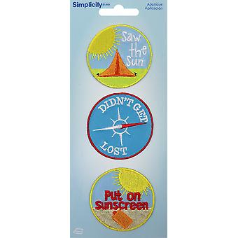 Wrights Iron-On Applique Badges 3/Pkg-Outdoors 19350-24001